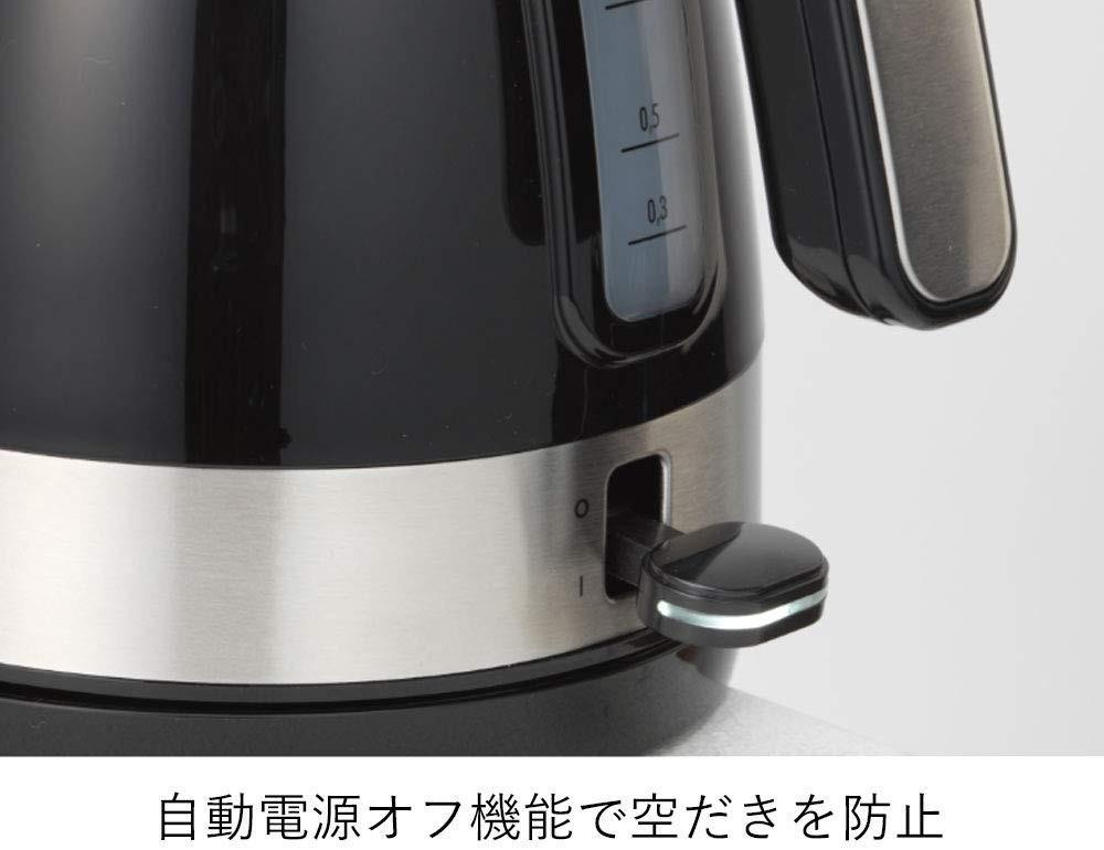 デロンギ 電気ケトル アクティブ シリーズ KBLA1200J-BK(インテンスブラック)の商品画像|2