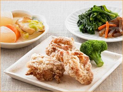気くばり御膳 丸大豆醤油仕立ての鶏からあげとおかず5種(230kcal)