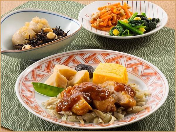 気くばり御膳 鶏もも肉の味噌焼きセット(234kcal)