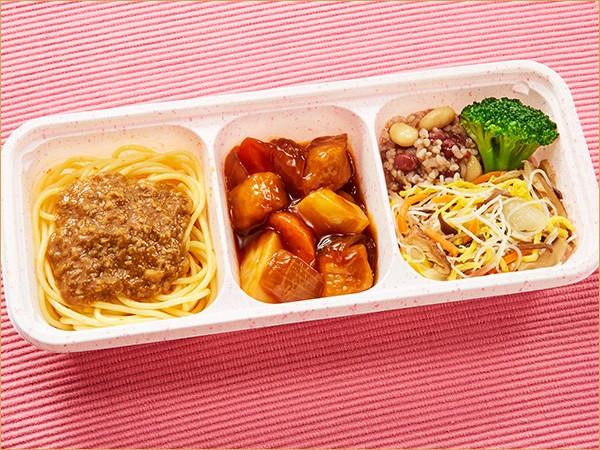 ウーディッシュ 黒酢の酢豚と担々麺風(308kcal)