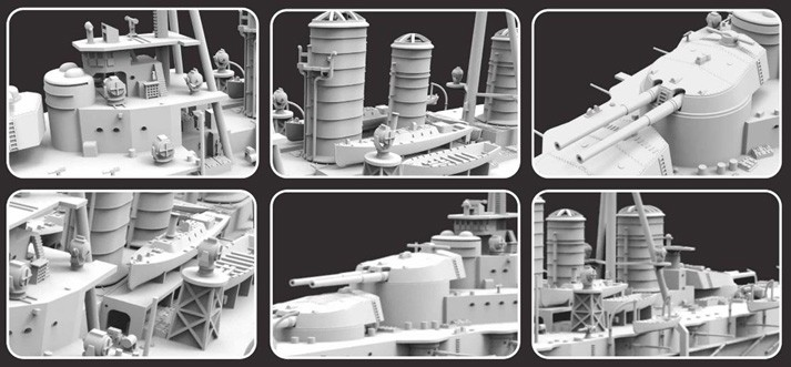 日本海軍 超弩級 巡洋戦艦 霧島 1915年 (1/700スケール NAVY MODEL KJKKM70004)の商品画像 2