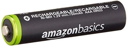 Amazonベーシック 充電式ニッケル水素電池 単4形8個パック (最小容量750mAh、約1000回使用可能) HR-4UTG-AMZN (8P)の商品画像|4