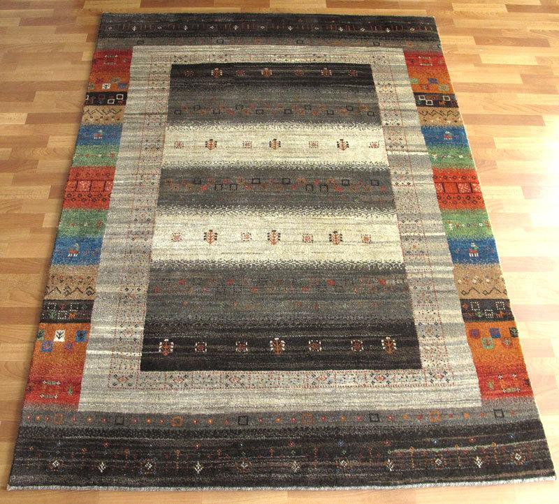 ギャッベ ギャベ/シェカルー、細かめのしなやかな織り 大きめリビングサイズ 237×176cm(ZLB-91)