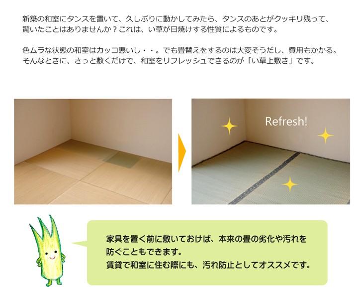 イケヒコ い草上敷き 湯沢 江戸間6畳の商品画像|3