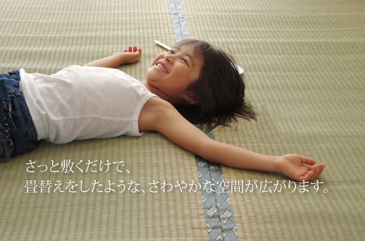 イケヒコ い草上敷き 湯沢 江戸間6畳の商品画像 4