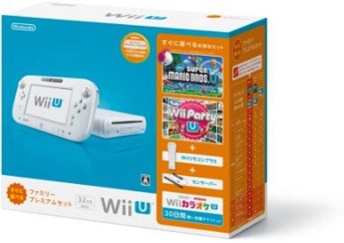 任天堂 Wii U すぐに遊べるファミリープレミアムセット(シロ)の商品画像|ナビ