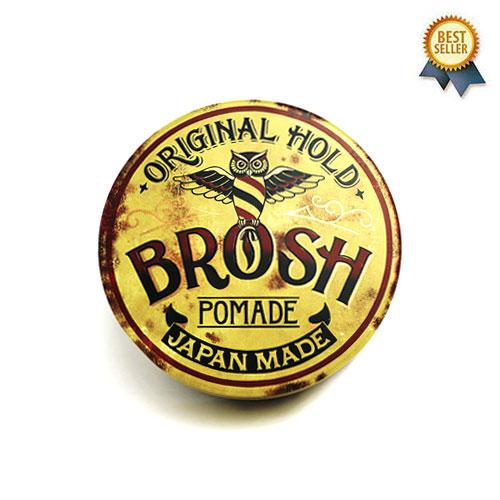 BROSH ポマード ブロッシュポマード グリース 水性ポマード 男性用 整髪料 スパイシーな香り 115g BROSH POMADE ORIGINAL HOLD