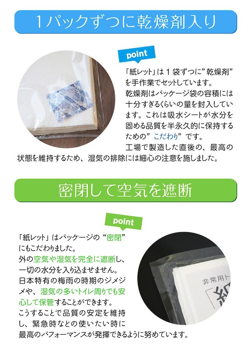非常用トイレ凝固剤 シート 紙レット
