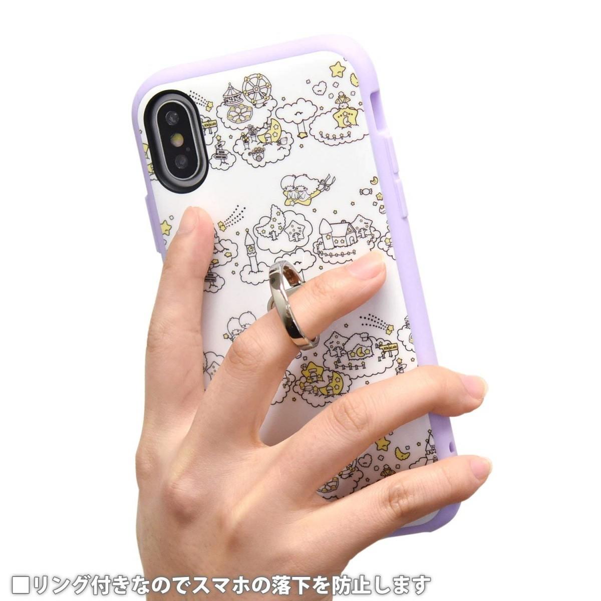 iPhone X用 サンリオキャラクターズ IIIIfitリングケース キキ&ララ SAN-795TSの商品画像|3