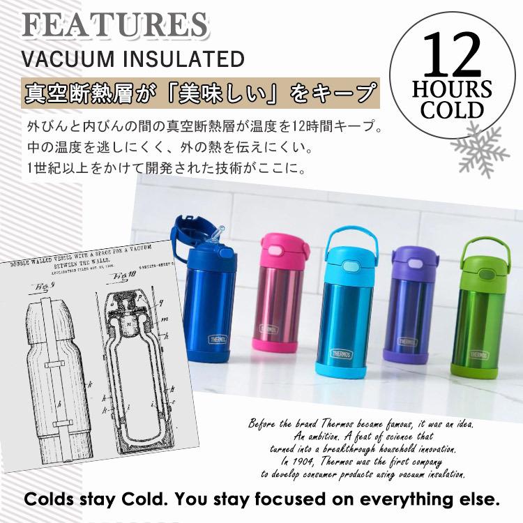 ステンレス水筒 0.35L(ティール)の商品画像|3