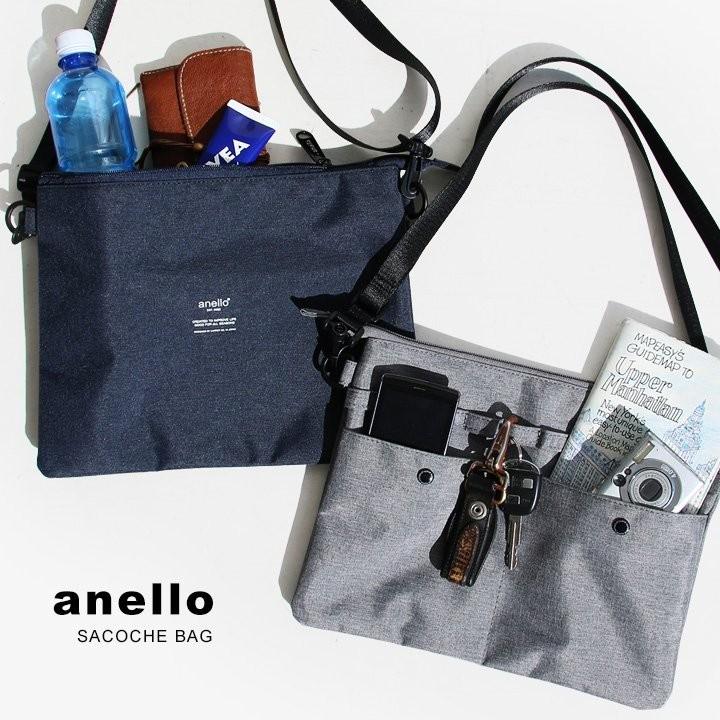 アネロ(anello) サコッシュ ショルダー バッグ 500ml ペットボトル ストラップ 取り外し 可能 ポーチ カジュアル (アネロ) anello 春 夏