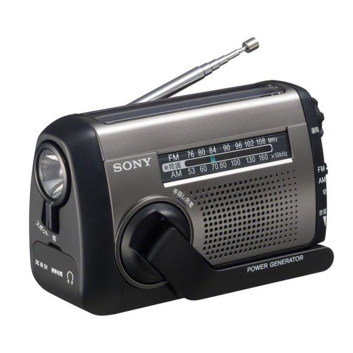 SONY FM/AMポータブルラジオ ICF-B99-S シルバー 手回し充電ラジオ ソニー 即納・送料無料