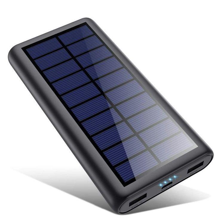2020年最新版 モバイルバッテリー ソーラー 26800mAh ソーラーチャージャー 大容量 ソーラー充電器 急速充電 2USB出力ポート 地震/災害/旅行/出張/アウトドア活