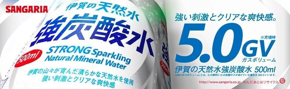伊賀の天然水 強炭酸水 500ml × 42本 ペットボトルの商品画像 ナビ
