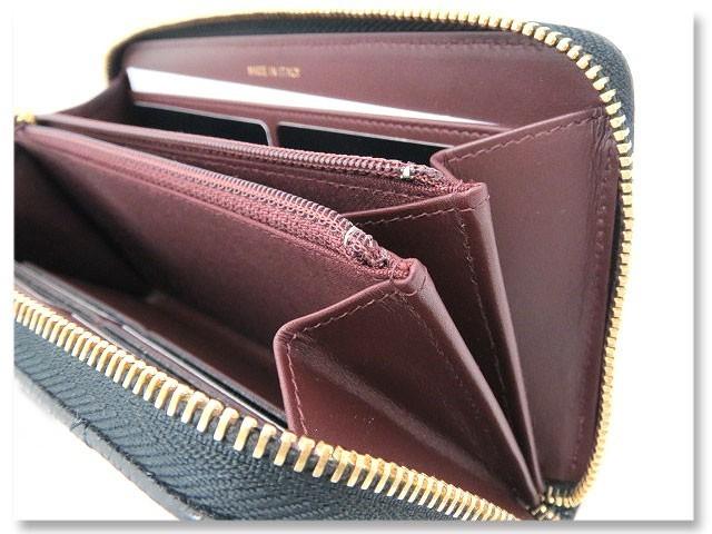 25537d4b8bbd マトラッセ ジップウォレット グレインドカーフスキン A50097 (ブラック/ゴールド金具)の商品