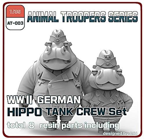 WWII ドイツ ヒッポ 戦車兵 セットA (2体) (1/35スケール アニマルトループ AT-003)の商品画像|ナビ