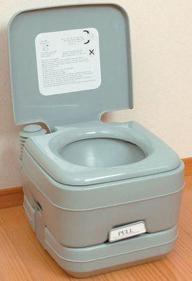 簡易トイレ/介護用品 トイレ/非常用トイレ/災害用トイレ/軽量ポータブル水洗トイレ10L