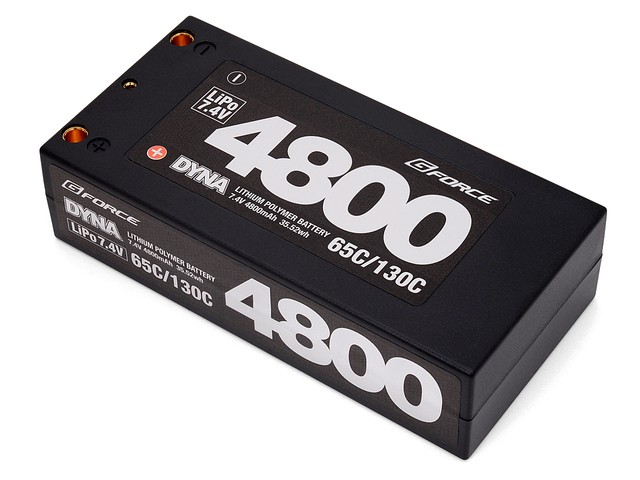 ジーフォース バッテリー Dyna 7.4V 4800mAh Short Size 65C/130C GFG006の商品画像|ナビ