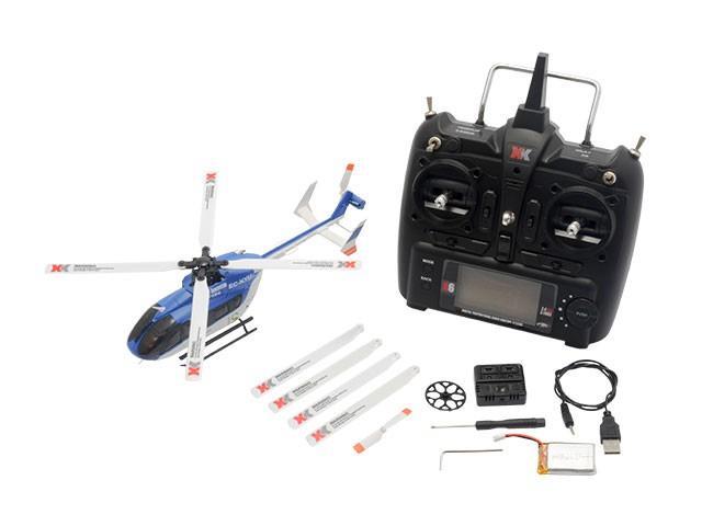 ハイテック 6CH ブラシレスモーター3D6Gシステムヘリコプター RTFキット K124の商品画像 ナビ