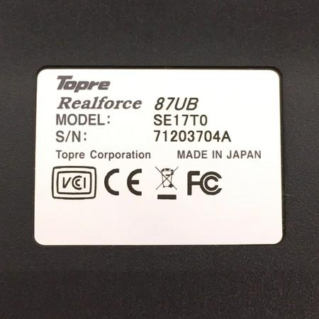 東プレ リアルフォース REALFORCE87UB SE17T0(ブラック)の商品画像|2