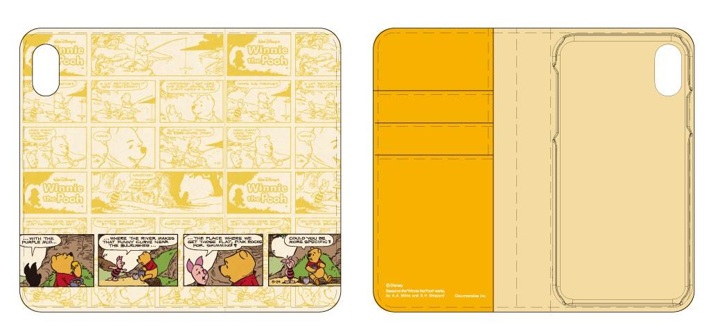iPhone XR用 ディズニーキャラクター フリップカバー くまのプーさん DN-555Cの商品画像|2