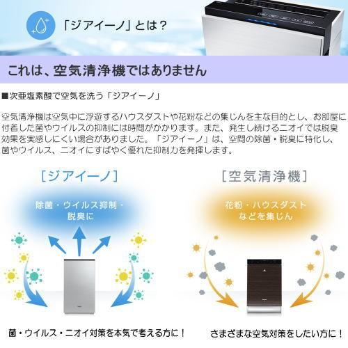 パナソニック F-MV4100-WZ ziaino(ジアイーノ) 次亜塩素酸 空間除菌脱臭機 18畳用 ホワイトの商品画像|2