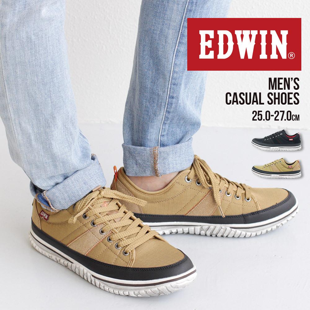 EDWIN 抗菌 防臭 スニーカー