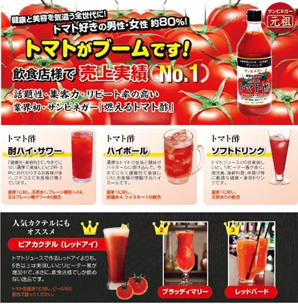 ディ・ハンズ サンビネガー 燃えるトマト酢 900ml 瓶の商品画像|2