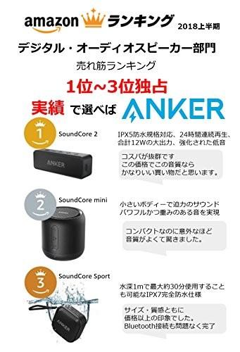 Bluetoothスピーカー SoundCore A3102011 (ブラック)の商品画像|2