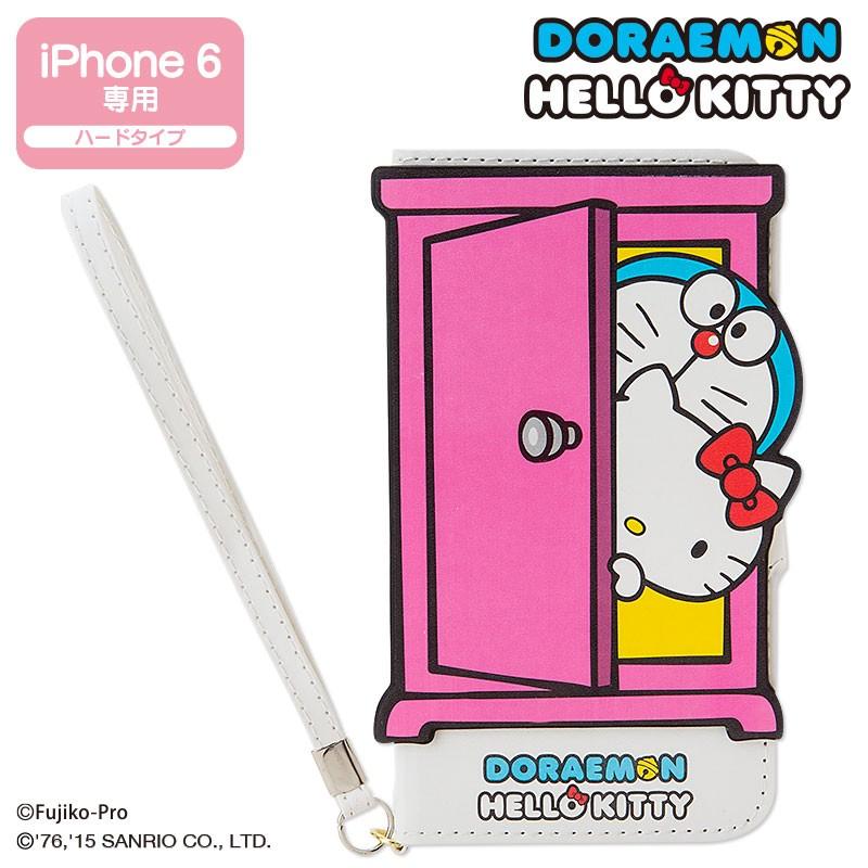 ドラえもん×ハローキティ 手帳型iPhone 6s/6ケース(どこでもドア)