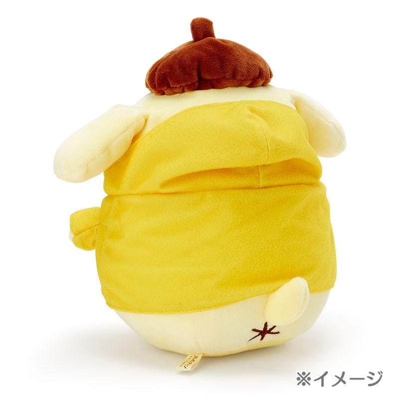 ポムポムプリン ぬいぐるみ (カラフルパーカー パープル)の商品画像|ナビ