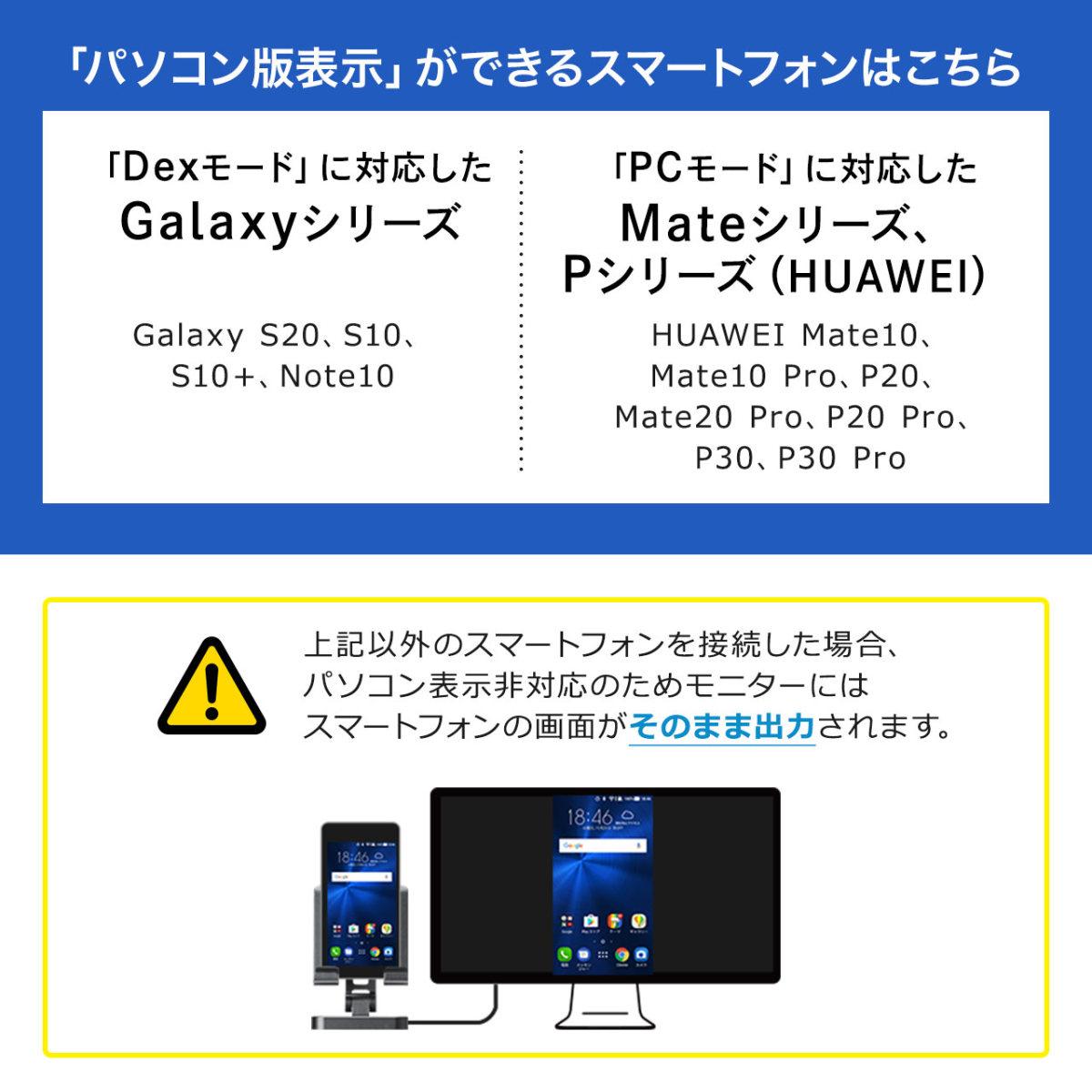 USB Type-C ドッキングステーション スマホ タブレットスタンドタイプ PD 60W対応 4K対応 7in1 HDMI Type-C USB3.0×2 SD microSDカード