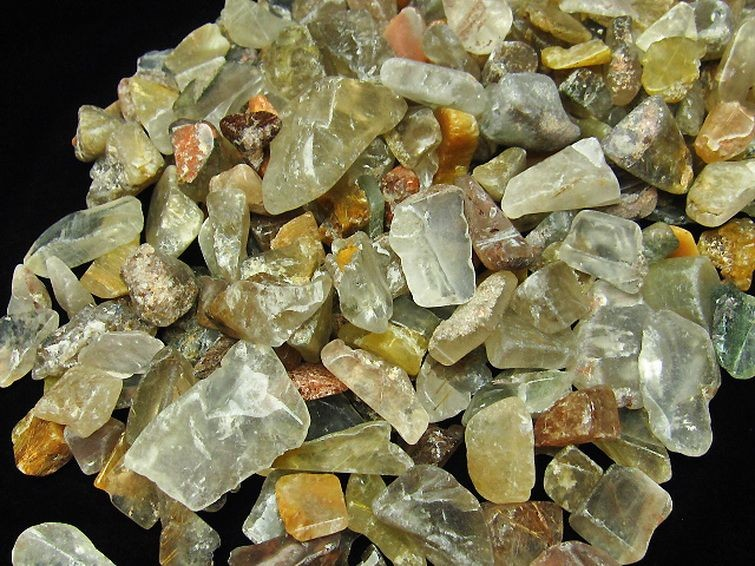 金針ルチル水晶さざれサイズ:大【T716-7】