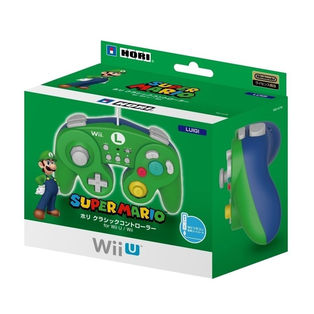 ホリ クラシックコントローラー for Wii U / Wii ルイージの商品画像 ナビ