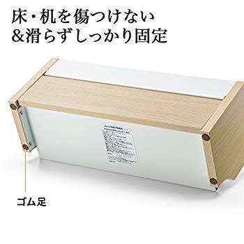 ケーブルボックス 200-CB006DM (ダークブラウン)の商品画像|3