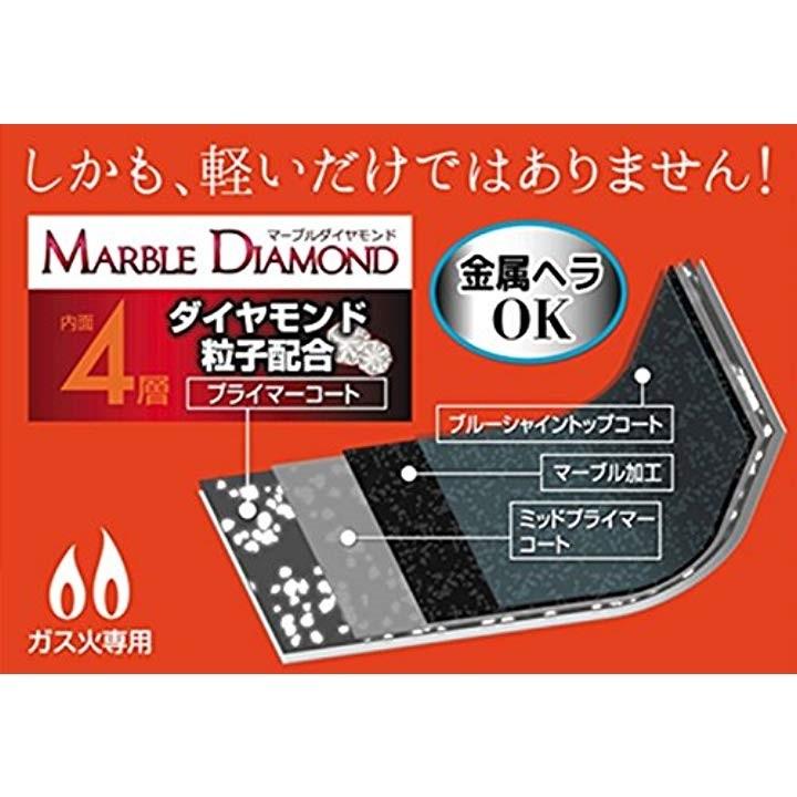 パール金属 もっと軽いね マーブルダイヤモンドコート フライパン 20cm HB-1327の商品画像|3