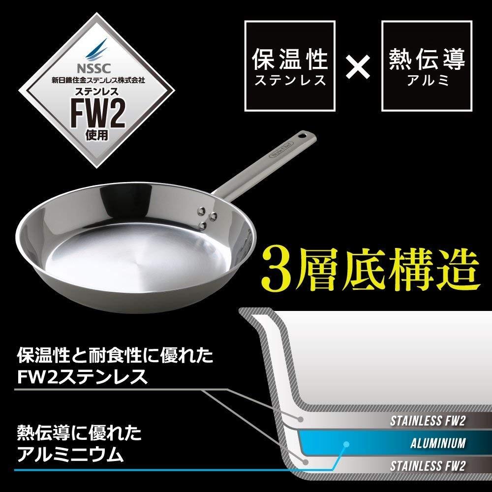 アイリスオーヤマ StyleChef ステンレスフライパン 24cm SF-24NCの商品画像|4