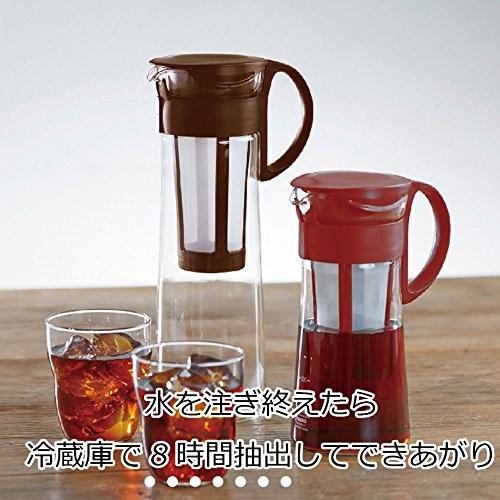 ハリオ 水出し珈琲ポット 600ml 5杯用 MCPN-7R レッドの商品画像|2