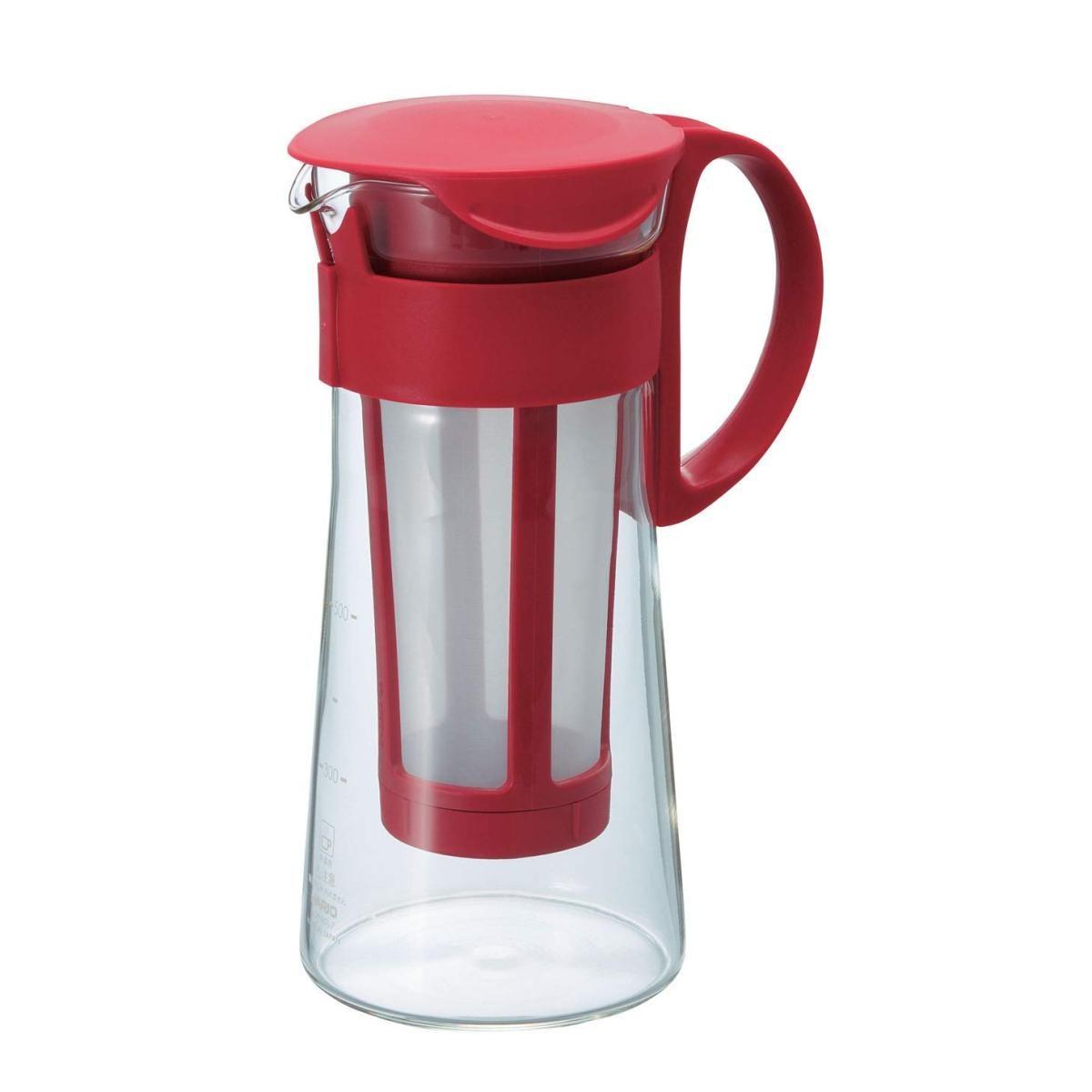 ハリオ 水出し珈琲ポット 600ml 5杯用 MCPN-7R レッドの商品画像|4