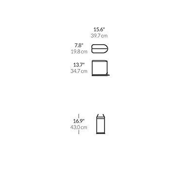 バタフライステップカン 10L CW1899 (シルバー)の商品画像|4