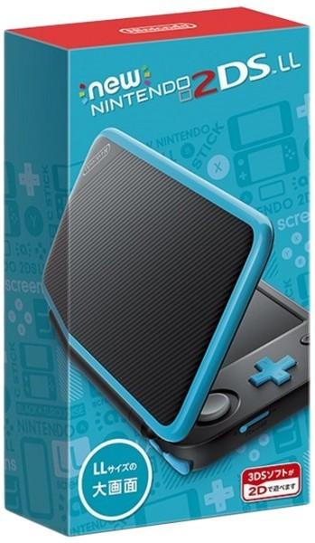 任天堂 Newニンテンドー2DS LL ブラック×ターコイズの商品画像|2