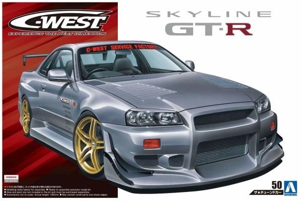 C-WEST BNR34 スカイライン GT-R` 02 (ニッサン) (1/24スケール ザ・チューンドカー No.50 05542)の商品画像 4