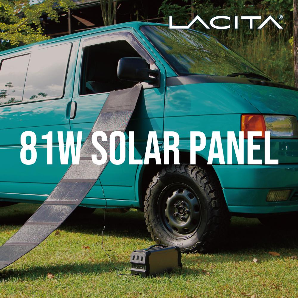 ポータブル電源 ソーラーパネル ソーラー 81W ソーラーチャージャー LACITA 日本メーカー ソーラー充電器