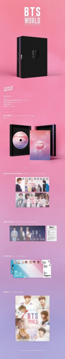BTS WORLD OST bulletproof boy . world soundtrack [ first arrival poster circle .| Revue life photograph 5 sheets | courier service ]