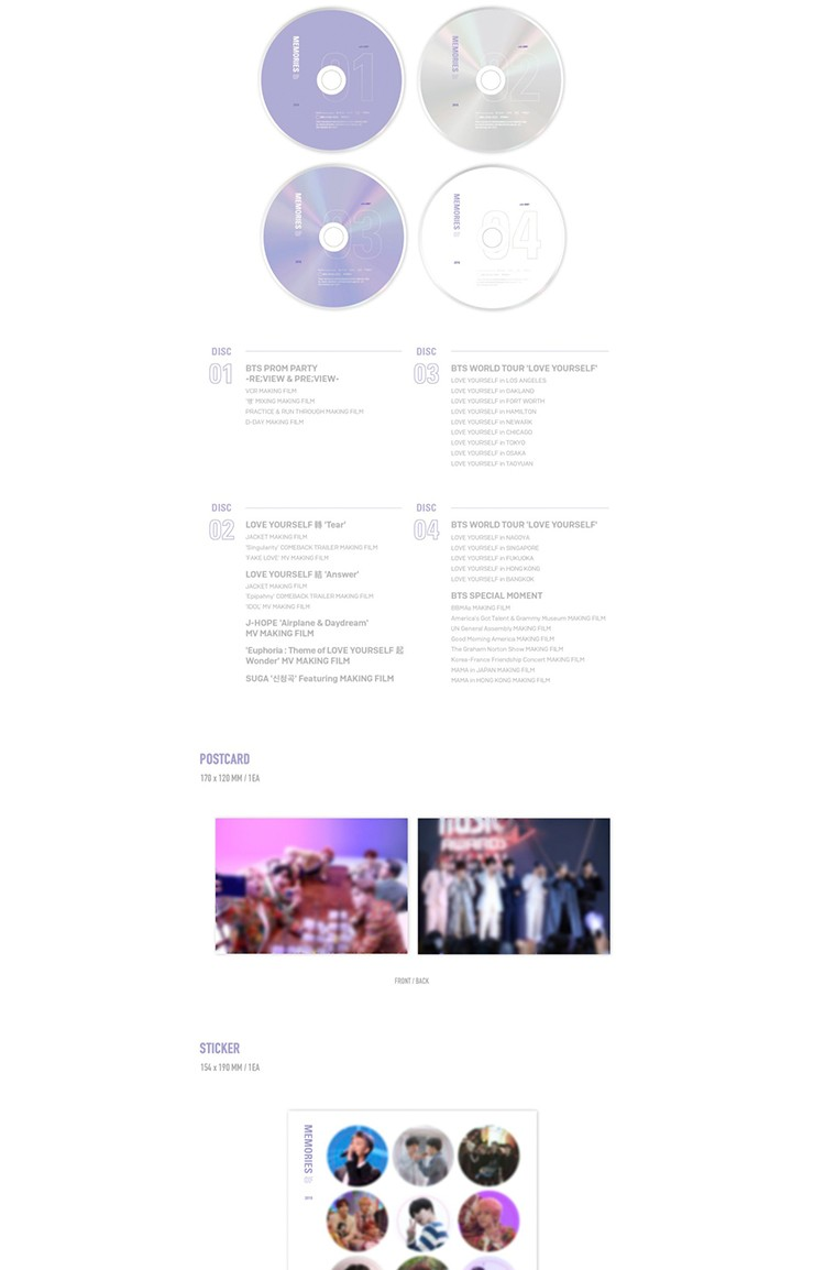 BTS MEMORIES OF 2018 BLURAY
