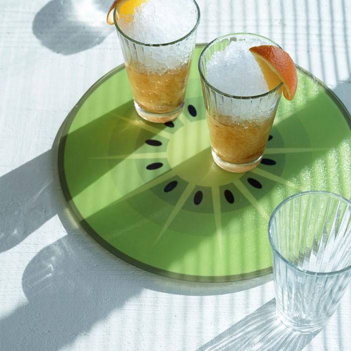 ジョゼフジョゼフ 耐熱ガラスカッティングボード 丸型 オレンジ 003632の商品画像|3