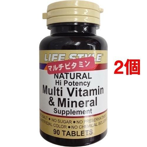 ライフスタイル(LIFE STYLE) ナチュラル マルチビタミン&ミネラル(90錠入*2コセット)