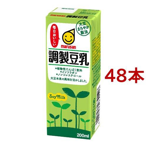 マルサンアイ 調製豆乳 200ml 紙パック 1ケース(24本)の商品画像|ナビ