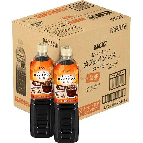 UCC おいしいカフェインレスコーヒー 無糖(930mL*12本入)