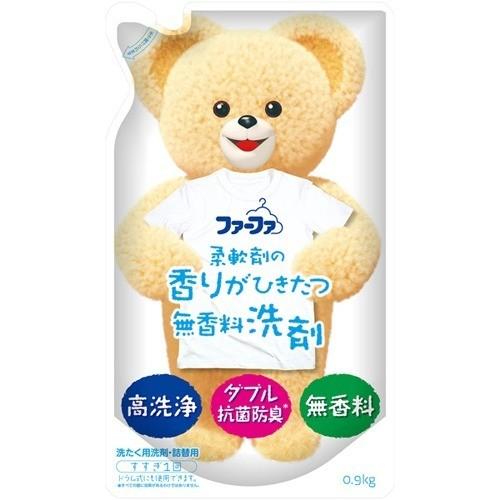 ファーファ 液体洗剤 香りひきたつ無香料 詰替(0.9kg)